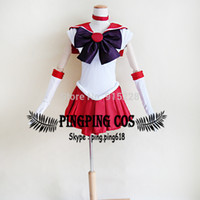 Wholesale Sailor Mars Cosplay Costume - Sailor Moon cosplay Sailor Mars Hino Rei Cosplay Costumes - Any Size (Free shipping).