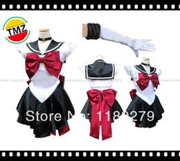 Wholesale Pluto Moon - TMZ Anime Soldier Sailor Moon Uniform Meiou Setsuna Dress Japanese Cosplay Sailor Pluto Costume halloween Whole Set, Any Size