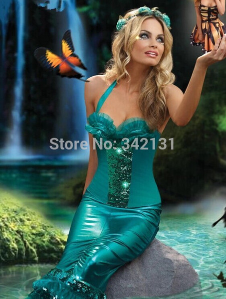 fairy tale Elvish Shyde sexy adult mermaid costume the little mermaid cosplay clothes for women  sc 1 st  DHgate.com & Fairy Tale Elvish Shyde Sexy Adult Mermaid Costume The Little ...