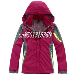 Wholesale Army Hood Jacket - 2015 free shipping 2 in 1 The Phere Triclimate Winter Hood women Outerwear Coats Jacket women's Jackets 2pcs set