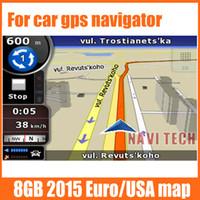 Wholesale Gps Sd Navigation Card - 8G gps maps sd card latest Map for WinCE car gps navigation map Europe, Russia Belarus,USA +CA AU, Israel Car gps maps