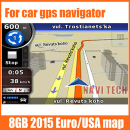 Wholesale Gps Sd Navigation Card - 8G gps maps sd card latest Map for WinCE car gps navigation map Europe, Russia Belarus,USA +CA AU, Israel Car gps maps