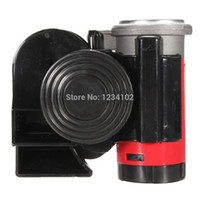 Wholesale Vehicle Horns - New 12V Air Horn Snail Compact Airhorn Car Truck Vehicle Motorcycle Yacht Boat