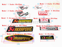 Wholesale Motorcycle Modified Decals - 10pcs lot Motorcycles modified aluminum label exhaust pipe standard Viper Yoshimura Akrapovic FM TWPO  decals wholesale Price