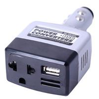adaptador usb 12v auto al por mayor-24V 12V DC a AC 220V Auto Convertidores de Inversores de corriente para automóvil Adaptador Adaptador de carga del coche con la motocicleta salto estilo coche arranque USB