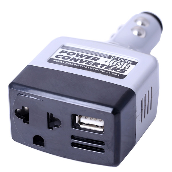 top popular 24V 12V DC to AC 220V Auto Car Power Inverter Converters Adapter Adaptor Car Charge with USB motorcycle jump starter car styling 2019