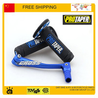 Wholesale Dirt Bike Gear Lever - MX Dirtbike Cross Pro Taper Handle Grip Grips + blue alloy gear shift lever dirt pit bike motorcycle accessories free shipping