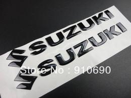 Wholesale Suzuki Gn - 3D New Black Soft Gel Fairing Kit Body Fuel Gas Tank Fairing Emblem Decal Sticker For SUZUKI GSXR Boulevard VStrom Hayabusa GN