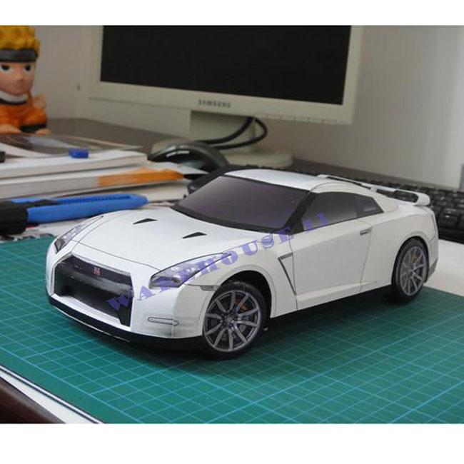 Free shipping 2015 new products 3d paper models car NISSAN GT-R EGOIST 1:18  scale collectible toy cars for sale kids puzzles toy