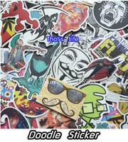 aufkleber für auto windschutzscheibe großhandel-Vinyl Aufkleber für Auto Aufkleber Aufkleber Fahrrad Laptop Aufkleber auf Auto Styling Aufkleber Bombe Doodle Motorrad Zubehör