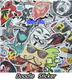 Wholesale Doodle Car - vinyl stickers for car sticker decal bicycle laptop sticker on car styling sticker bomb doodle motorcycle accessories