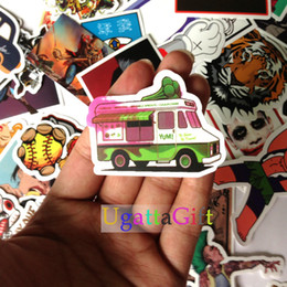 Wholesale Phone Sticker Cover Wholesale - Stickers Car Styling 50Pcs Mix Skateboard Laptop Luggage Snowboard Car Fridge Phone DIY Vinyl Decal Motorcycle Stickers Covers