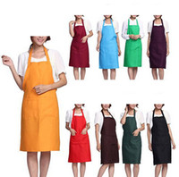 Wholesale home cooking tool online - Fashion Plain Apron with Front Pocket for Chefs Butchers Kitchen Cooking Craft UK Baking Home Cleaning Tool Accessories