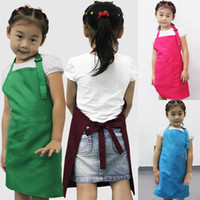 Wholesale Cooking Aprons Wholesale - Little Chef For Kids Children Cooking Baking Tools Kitchen Dining Apron Aprons   A3570