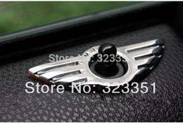 Wholesale Door Knob Decor - Auto Door Lock Knob Pin Button Decor Trim Ring For MINI COOPER (FIT 2 DOOR)