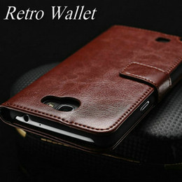 Wholesale Note Ii Wallet - Wholesale-Luxury Vintage Leather Wallet Stand case for Samsung Galaxy Note 2 II N7100 Phone Bag with Card holder
