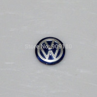 10pcs / lot blauer 14mm Remote Key Fob Badge Logo Car Audio Emblem-Aufkleber für VW VOLKSWAGEN Freies Verschiffen Großverkauf-Geschenk badges90