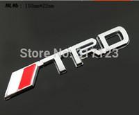 Wholesale Trd Sports Emblem - (20pcs lot) 3d Metal TRD Sport Car Emblems Badge for TOYOTA Decal On Car Stickers Bumper Sticker Fromtrd trd emblem