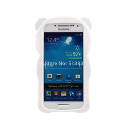 Wholesale Galaxy S4 Panda Case - Wholesale-Soft Robber Panda Case for Samsung Galaxy S4 mini 9190 Free Shipping