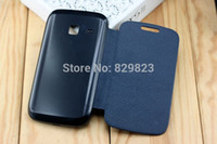 Wholesale Galaxy Y Flip Case Cover - Wholesale-Free shipping Flip Cover Case For Samsung Galaxy Y Duos S6102 S6102e S6108 6102 6102e 6108 Back Cover PU Leather Case