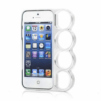 Wholesale Brass Knuckle Iphone - Wholesale-Lord Of The Rings brass knuckles hard side rim cover case for iPhone 4 4s 5 5S