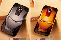 Wholesale S4 Iron Man - Wholesale-Cute Cartoon Super Hero Iron Man TPU Hard Silicone Back Cover Case For Samsung Galaxy S4 SIV i9500 Free Shipping