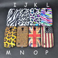 Wholesale S4 Cases Usa - Wholesale-Color Leopard Zebra Pattern UK USA Flag Gel TPU Soft Case For Samsung Galaxy S4 Mini i9190 Protector Cover Skin
