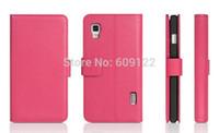Wholesale Cases Lg Optimus E455 - Wholesale-Luxury Flip Leather Cover Case for LG Optimus L5 II E460 E455 E450 Wallet Style Litchi Skin Back Cover for LG L5 II + Gift