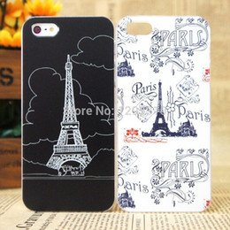 Wholesale Tower Mobile Cover - Wholesale-New Hot !! MOQ:1PC Mobile phone cover case for Iphone 4 4S 5 5s Tower 2015 new painting pattern