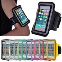 5c renk kutusu toptan satış-GYM Koşu Spor Kol Bandı Kılıfı Durumda 5 5 S 5C Kol Bandı Için Dayanıklı Su Geçirmez Telefon Çanta Case 10 renkler