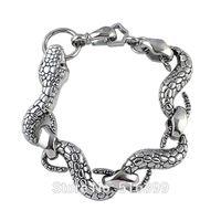 Wholesale Tribal Bracelets For Women - Steampunk Style Snake Shape Gold Silver Bronze Chain Bracelet For Women Tribal Bracelet 2015 New