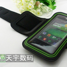 Wholesale Lg L7 Pouch - Soft Sport Armband Arm Band Belt Case Cover Pouch For LG P990 Nexus 4 E960 DC1165TW P725 E612 E400 L7 F160L F240L FREE SHIPPING