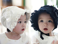 Wholesale baby girl crochet patterns - Baby Girls Bonnets Patterns Spring Summer Hats Caps Baby's White Pink Black Bonnets Bonnet BABY EASTER BONNETS FOR BABIES