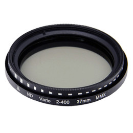 Wholesale Neutral Density Filter Wholesale - Wholesale-37mm Fader Variable Adjustable ND Neutral Density Adjustable Filter (ND2 to ND400) for Camera DSLR Free Shipping