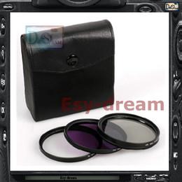 Wholesale 58mm Cpl Uv Lenses - Wholesale-58mm 58 Leather Case + FLD + CPL + UV Fluorescent Light Balancing Correction Lens Filter Kit Set For Camera DSLR PA257