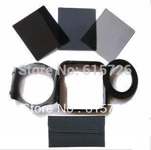 Wholesale-72mm Adapter ring+ND2 4 8 Filter+holder+Square Lens Hood +1pcs case For Cokin P series+free shipping +tracking number