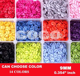 Wholesale Sew Accessories - Wholesale-Free shipping,9mm Candy colors,fashion buttons for shirts, Bulk buttons for craft,Sewing accessories,Button wholesale(SS-a673)