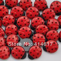 Wholesale Wholesale Ladybug Sewing Button - Wholesale-200 pcs resin ladybug Button Sewing Craft Scrapbook Garment DIY H1064