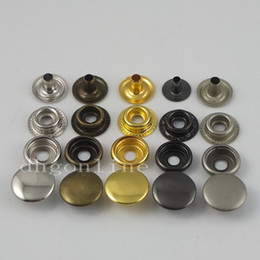Wholesale Choice Metals - Wholesale-100 sets Leather craft Rapid Rivet Button METAL Snaps Fasteners 12mm 1 2'' 5 color Choice
