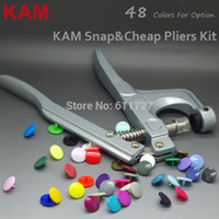 Wholesale Cheap Pliers - Wholesale-60 Colors for Option 300 Sets T5 20 12mm KAM Plastic Snap Buttons & Cheap Pliers Fastener Used For Diaper DIY Kit Mixing