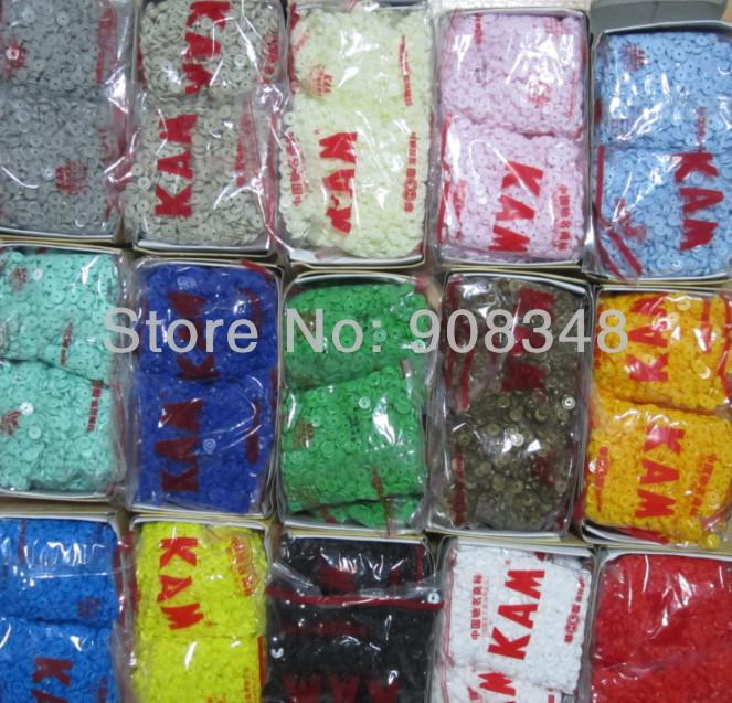 Wholesale-T5 60 Colors KAM Resin Snap Buttons Plastic Snaps button SIZE 20  , 12 5 mm Dia , 5000 sets , 1000 sets/color