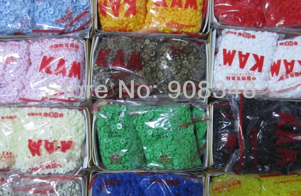 T3 KAM PLASTIC SNAPS FASTENER RESIN SNAP BUTTONS SIZE 16. 1000 Snaps /Color