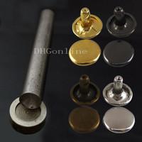 Wholesale Wholesale Cap Studs - Wholesale-100 sets Double Round Cap Rivet Stud + One Tool Leather 8MM 3 10'' MIX Color Choice