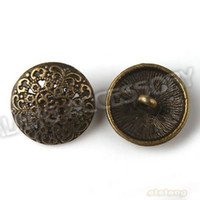 Wholesale Sewing Buttons 17mm - Wholesale-Free Shipping Vintage150pcs lot Metal Bronze Round Buttons 17mm with One Hole Fit Sew-on Coat clothes pants 160480