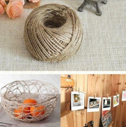 джутовые ленты оптом Скидка Wholesale-FD107 10M 3-Ply Twisted Burlap String Natural Ribbon Fiber Jute Twine Rope Toy L