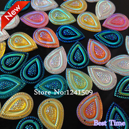 Wholesale Sew Rhinestones 18x25mm - Wholesale-Free Shipping 100pcs Drops Water 18X25mm Perfect Surface Resin Rhinestone For Sew On Dance Costumes Bag Shoes Jewelry Accessory