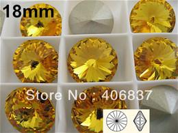 Wholesale Rivoli 18mm - Wholesale-100pcs Lot, 18mm Topaz Crystal Rivoli, Free Shipping! Chinese Top Quality Crystal Rivoli