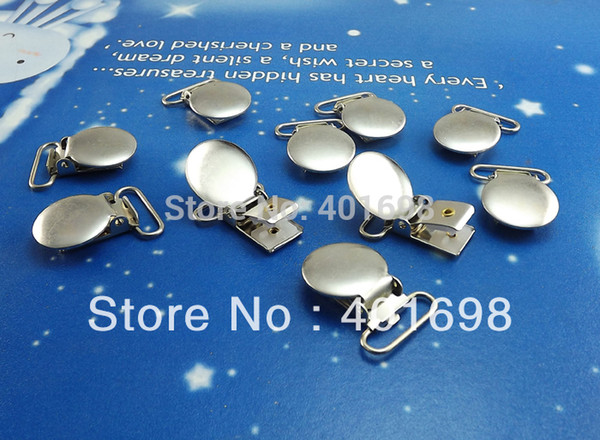Wholesale-40Pcs/Lot Suspenders circular round cover clips,mitten clips,metal clips K4