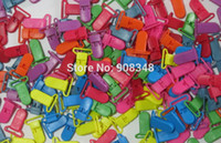 Wholesale Baby Quilt Clips - Wholesale-20MM KAM Plastic Clip Clamp Dummy Soother Clips For Baby Pacifier 100pcs color, 500pcs