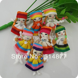 Appliques De Poupée Pas Cher-10 pcs Patterns mignon ruban Girl Dress Doll Crafts autocollantes Pour coudre le A0115 Kid
